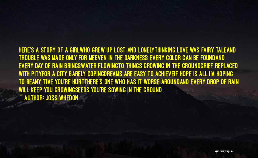 Every Drop Of Water Quotes By Joss Whedon