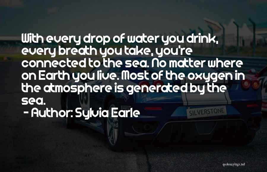 Every Drop Of Water Quotes By Sylvia Earle
