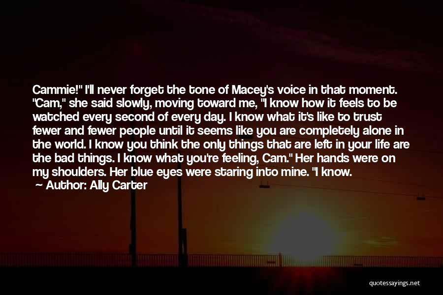 Every Moment I Think Of You Quotes By Ally Carter