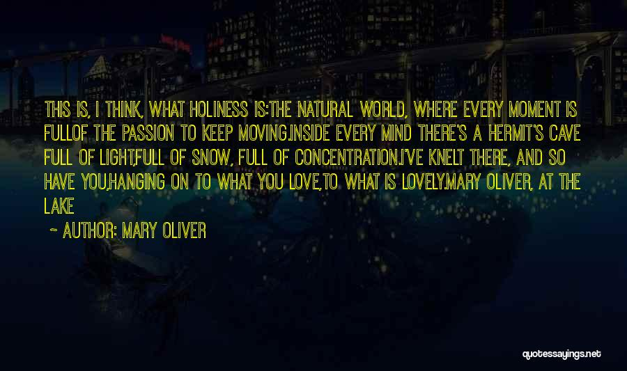 Every Moment I Think Of You Quotes By Mary Oliver