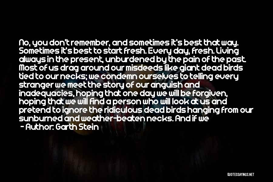 Every Person You Meet Quotes By Garth Stein