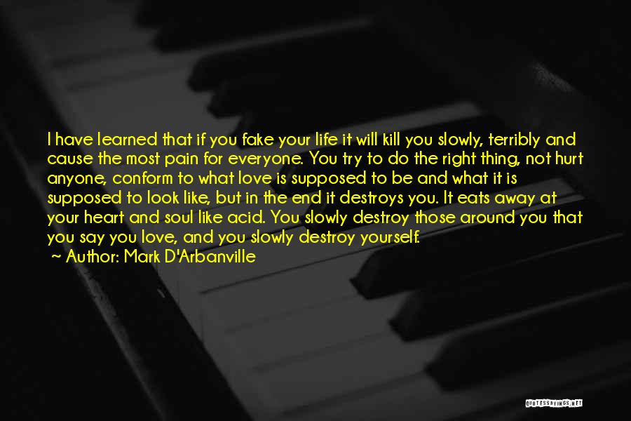Everyone Has The Right To Love Quotes By Mark D'Arbanville