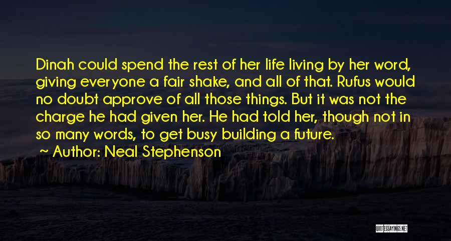 Everyone Is Busy In Their Life Quotes By Neal Stephenson