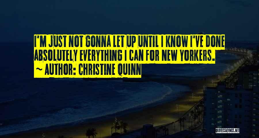 Everything Done Quotes By Christine Quinn