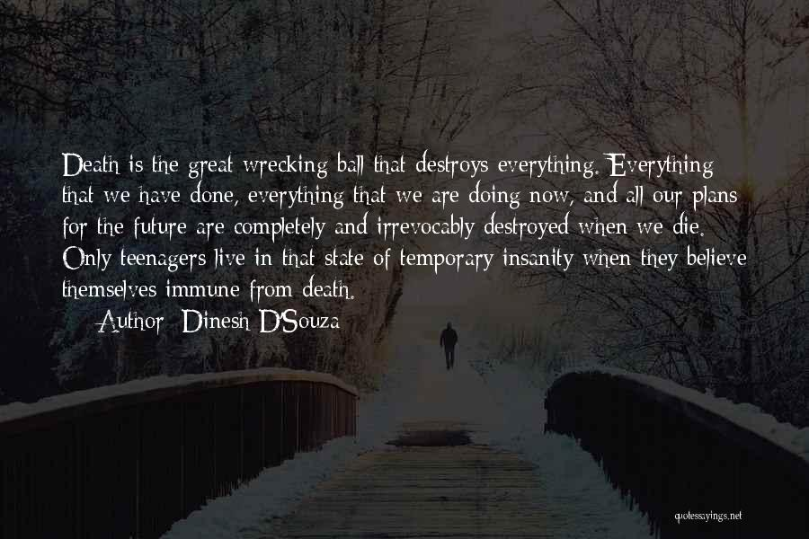Everything Is Destroyed Quotes By Dinesh D'Souza