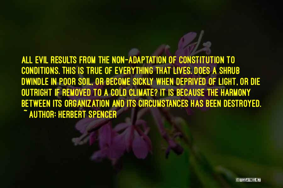 Everything Is Destroyed Quotes By Herbert Spencer