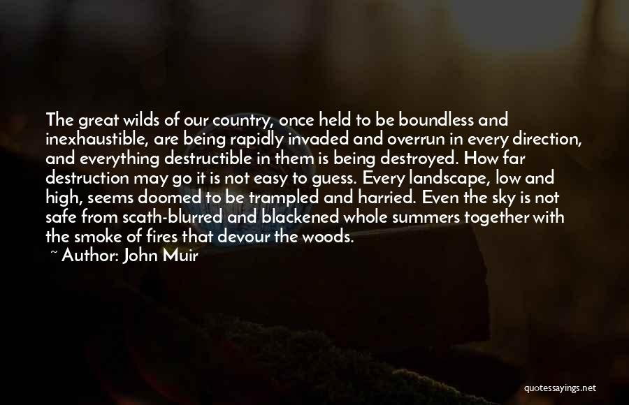 Everything Is Destroyed Quotes By John Muir