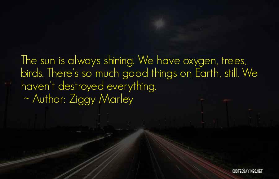 Everything Is Destroyed Quotes By Ziggy Marley