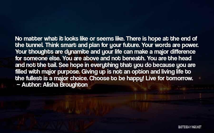 Everything You Do Is A Choice Quotes By Alisha Broughton
