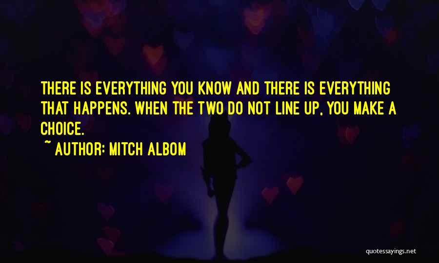 Everything You Do Is A Choice Quotes By Mitch Albom