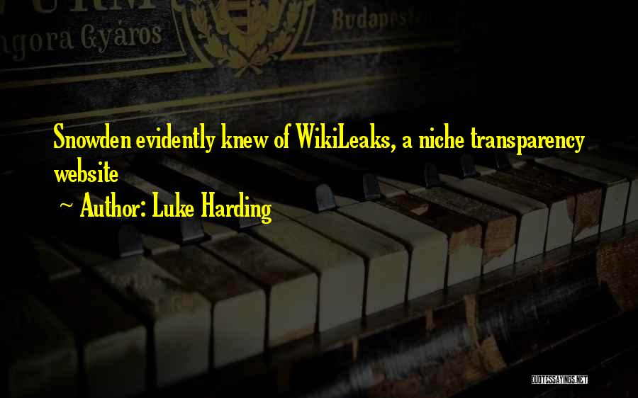 Evidently Quotes By Luke Harding