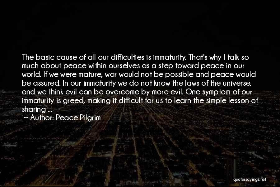 Evil Within Us All Quotes By Peace Pilgrim