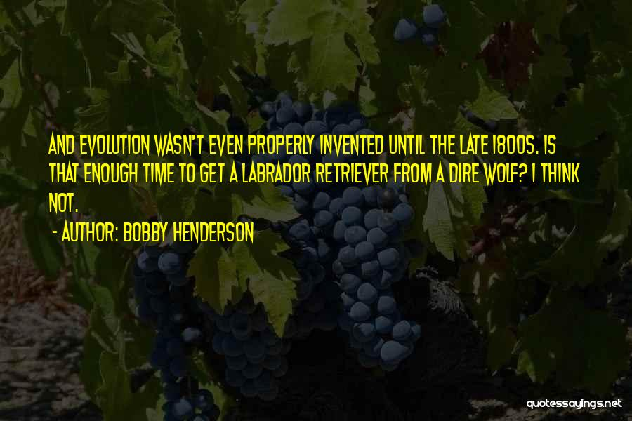 Evolution Quotes By Bobby Henderson