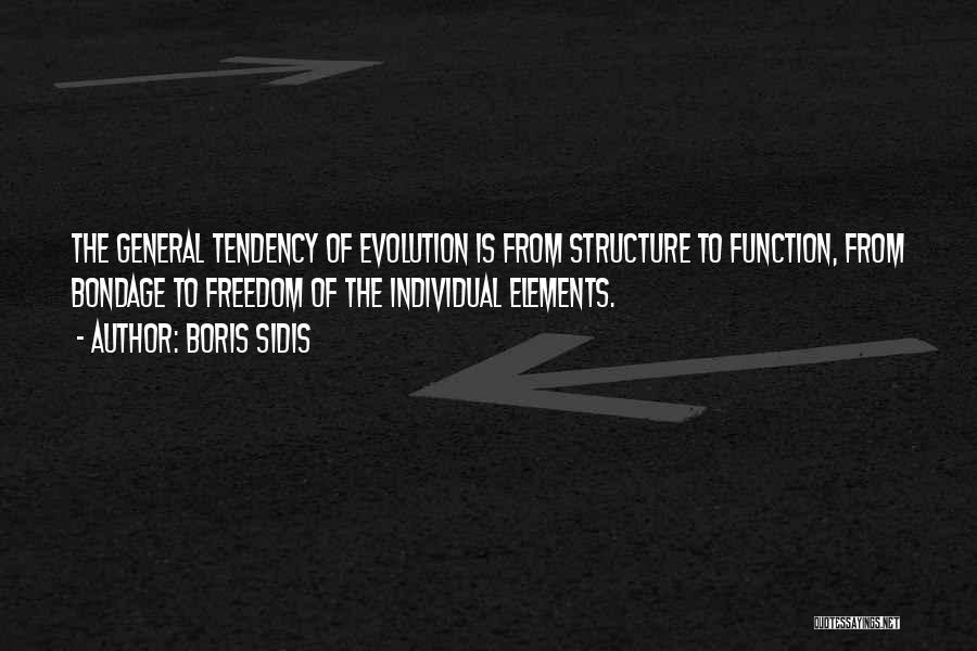Evolution Quotes By Boris Sidis