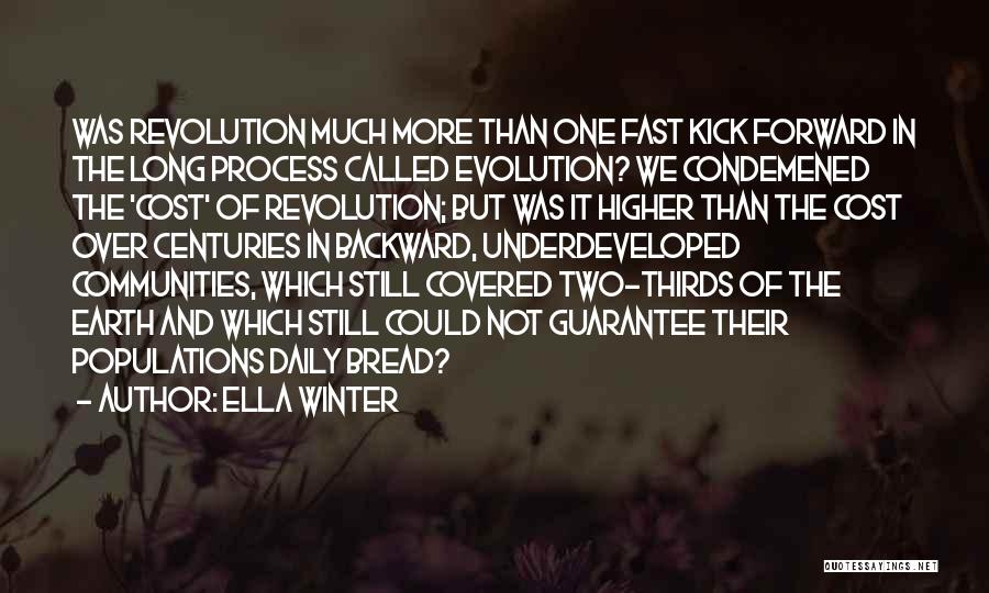 Evolution Quotes By Ella Winter