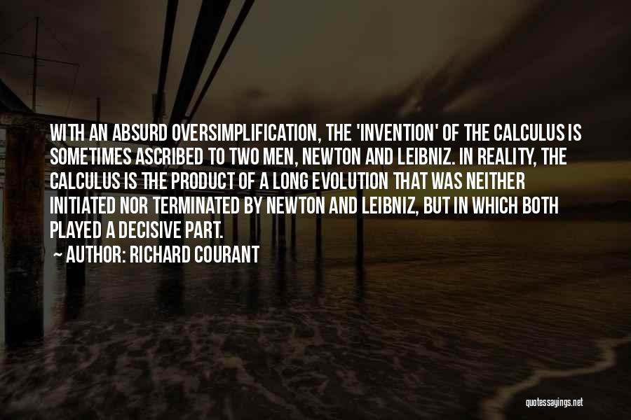Evolution Quotes By Richard Courant