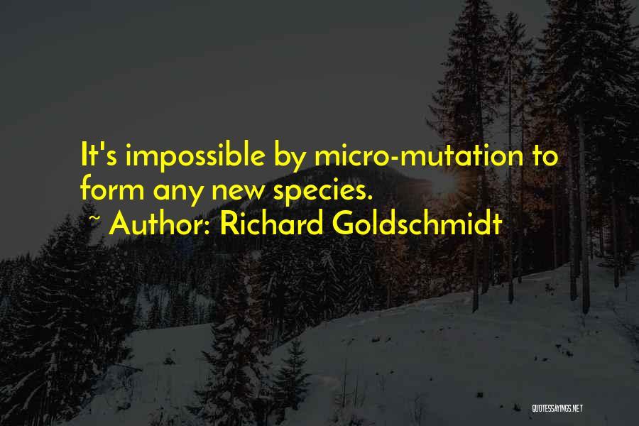 Evolution Quotes By Richard Goldschmidt