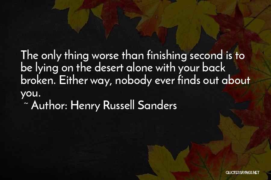 Ex Comes Back Quotes By Henry Russell Sanders
