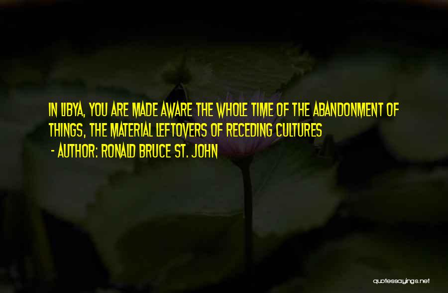Ex Leftovers Quotes By Ronald Bruce St. John
