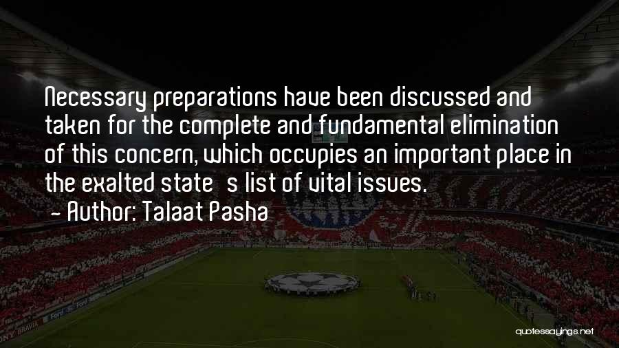 Exalted Quotes By Talaat Pasha
