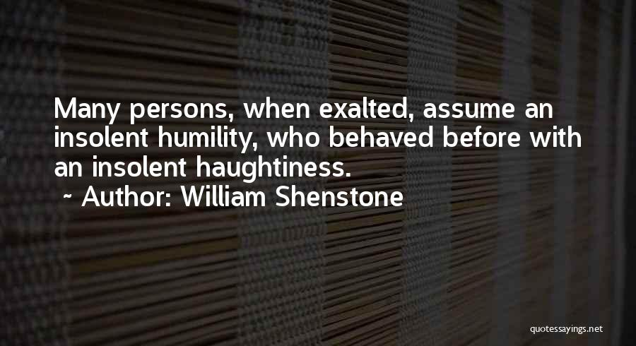 Exalted Quotes By William Shenstone