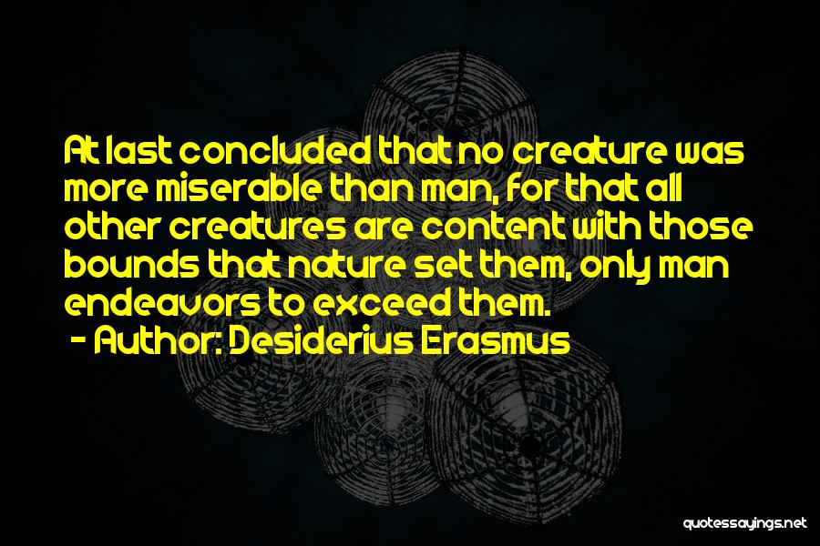 Exceed Quotes By Desiderius Erasmus