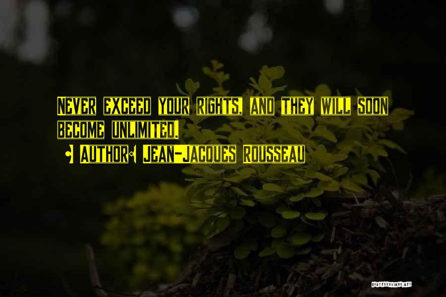 Exceed Quotes By Jean-Jacques Rousseau