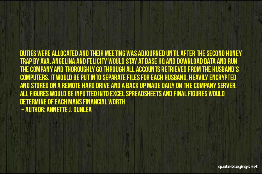 Excel Data In Quotes By Annette J. Dunlea