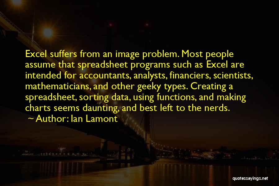 Excel Data In Quotes By Ian Lamont