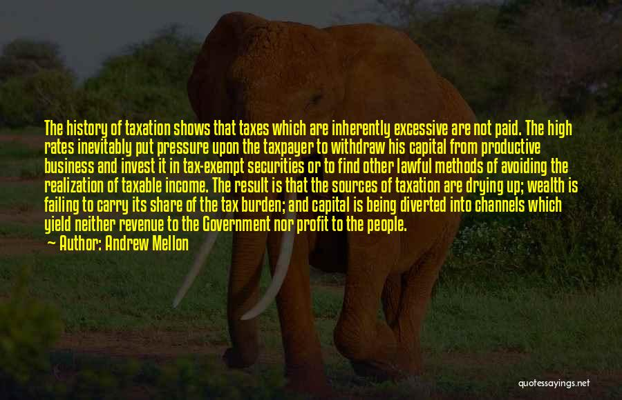 Excessive Quotes By Andrew Mellon