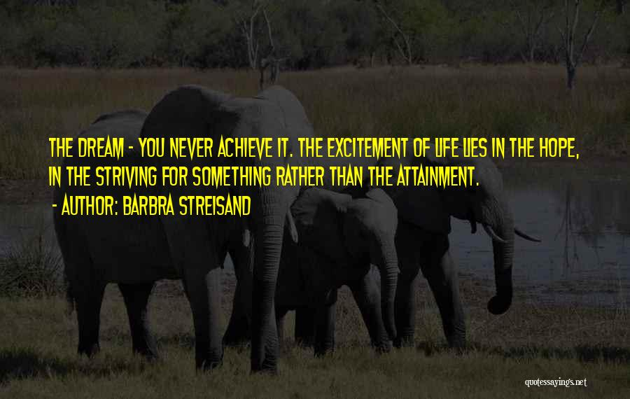 Excitement For Life Quotes By Barbra Streisand