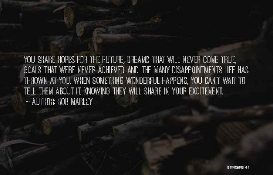 Excitement For Life Quotes By Bob Marley