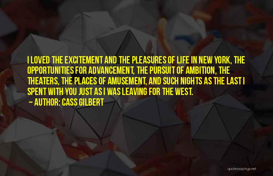 Excitement For Life Quotes By Cass Gilbert