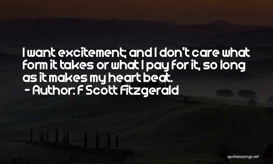 Excitement For Life Quotes By F Scott Fitzgerald