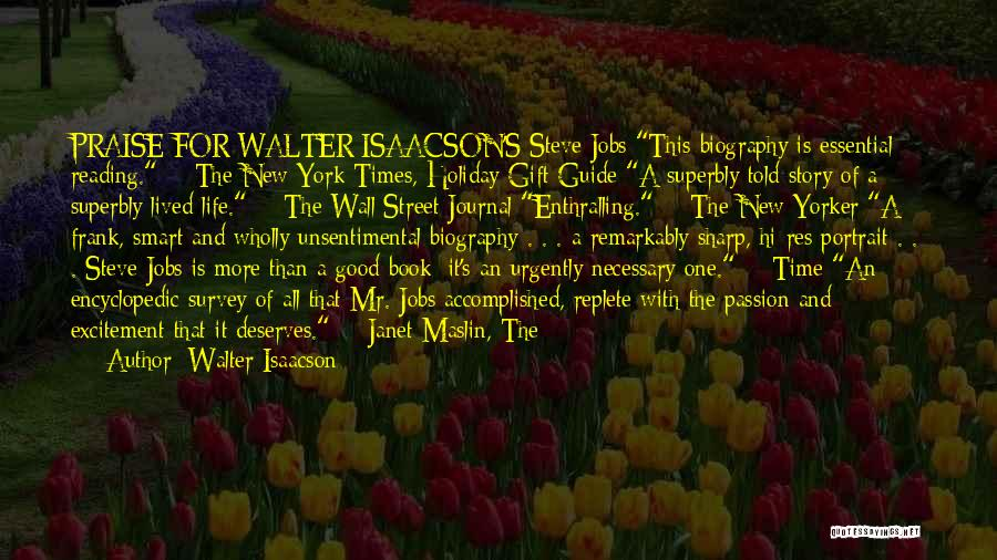 Excitement For Life Quotes By Walter Isaacson