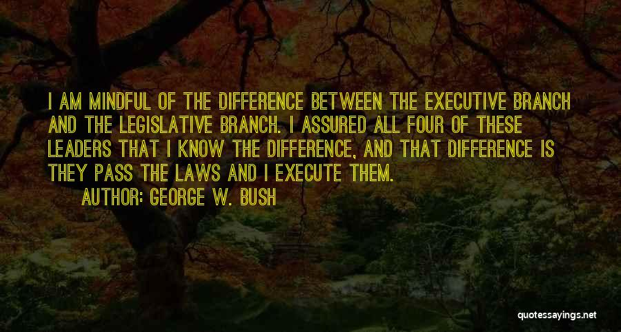 Execute Quotes By George W. Bush