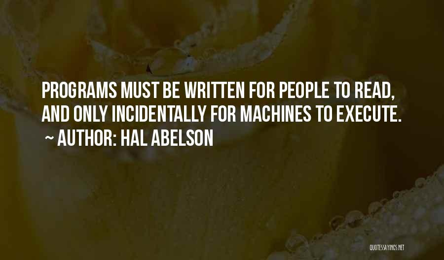 Execute Quotes By Hal Abelson