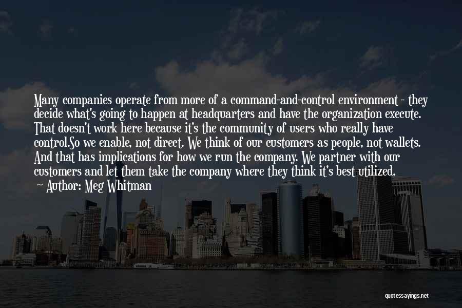 Execute Quotes By Meg Whitman