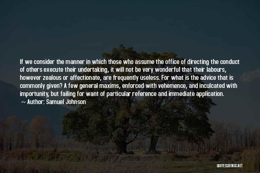 Execute Quotes By Samuel Johnson