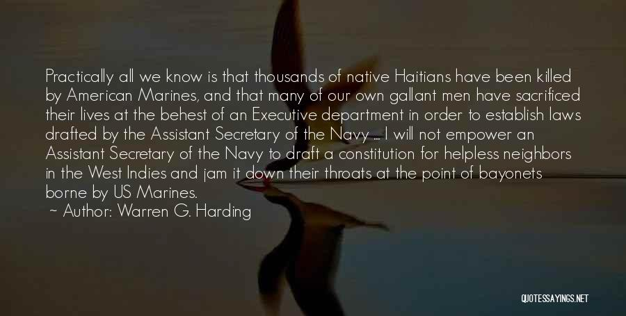 Executive Assistant Quotes By Warren G. Harding