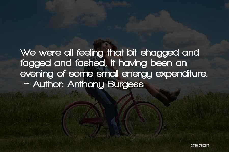 Exhaustion Quotes By Anthony Burgess