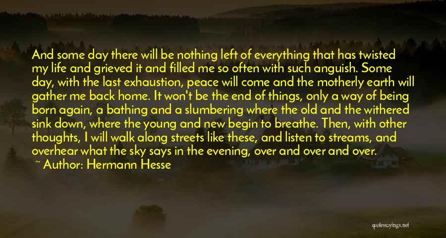 Exhaustion Quotes By Hermann Hesse