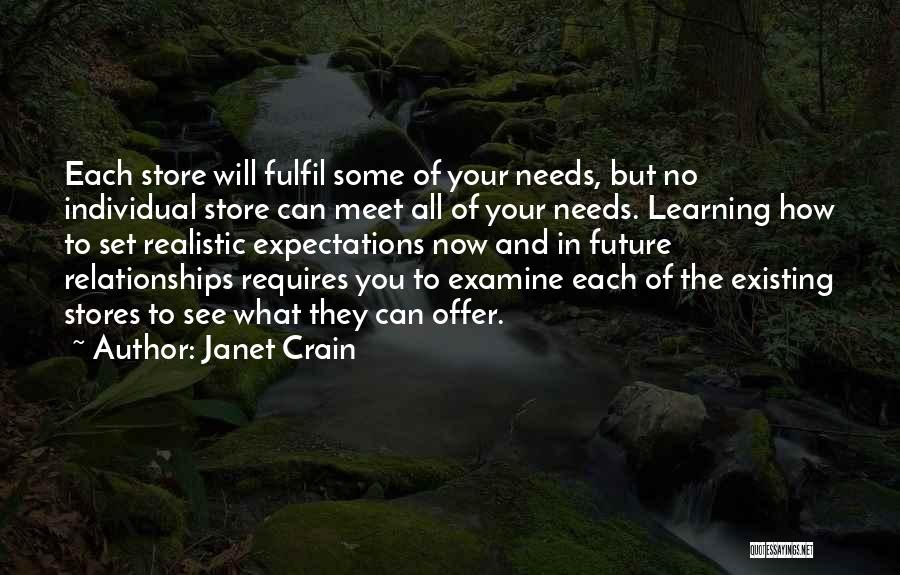 Expectations In Relationships Quotes By Janet Crain