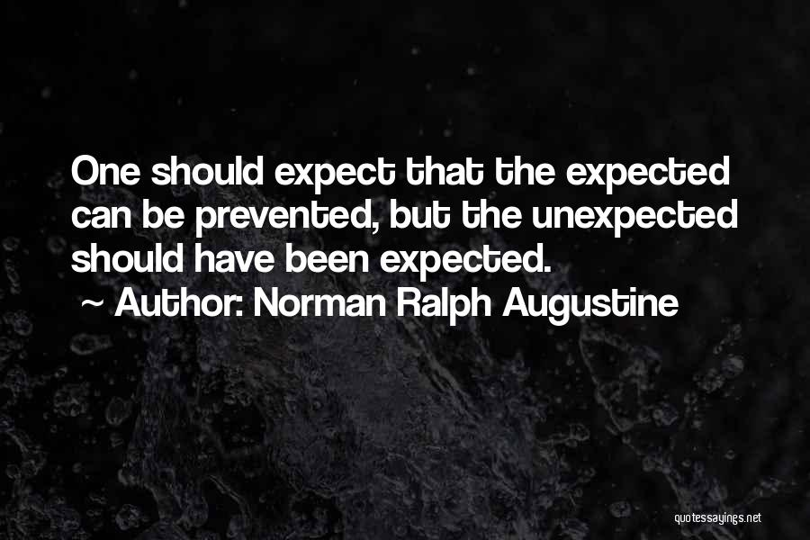 Expected Unexpected Quotes By Norman Ralph Augustine