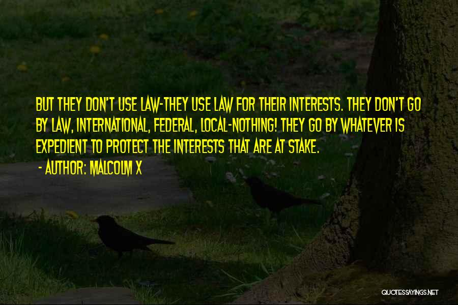 Expedient Quotes By Malcolm X