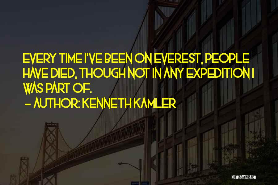 Expedition Everest Quotes By Kenneth Kamler