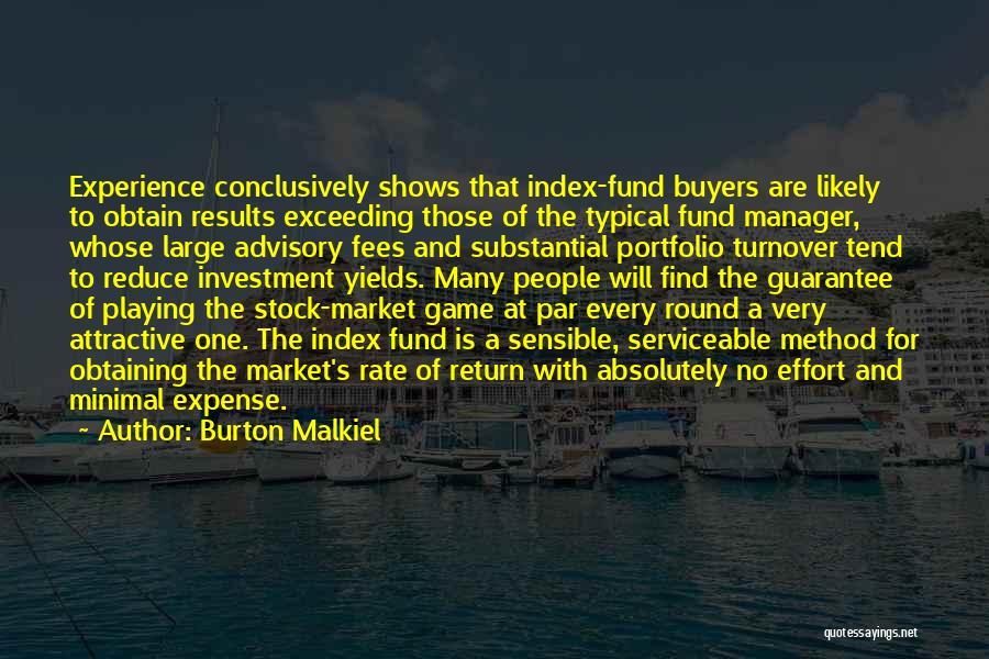 Expense Quotes By Burton Malkiel