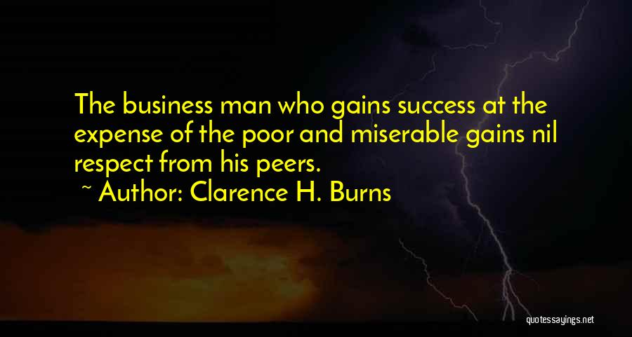 Expense Quotes By Clarence H. Burns