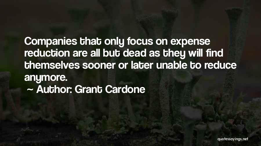 Expense Quotes By Grant Cardone