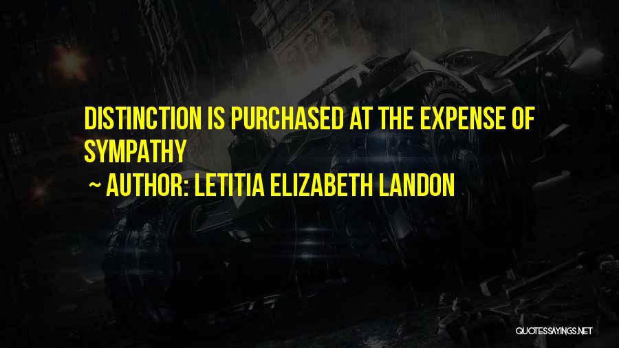 Expense Quotes By Letitia Elizabeth Landon